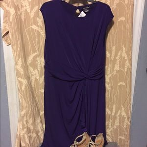 Purple dress with knot on the front